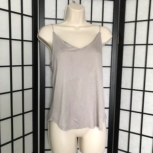 H&M Light Brown Loose Tank Top with Low Back